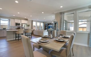 Olivas' Plan 1 showcases the open floorplan and great flow of these family homes in Ventura.